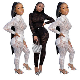 tenues d'anniversaire sexy achat en gros de-news_sitemap_homeSexy Dentelle Mesh Sheer Two Piece Ensemble Vêtements de printemps Top Pant Suit Club Party Night Outfits d anniversaire pour femmes