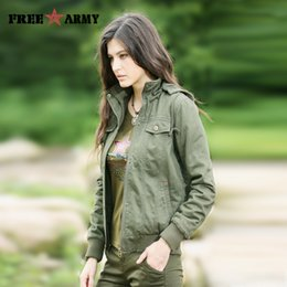 Wholesale military style jacket xl woman for sale – winter New Jacket Female Women Winter Coat Thicken Cotton Padded Winter Jacket Women s Outwear Parkas for Women Military Safari Style