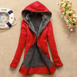 Wholesale quilt jackets for sale - Group buy Female Jackets Women s Casual Winter Warm Sherpa Lined Zip Up Hooded Sweatshirt Jacket Coat Thick Warm Hooded Quilt Snow Outwear1