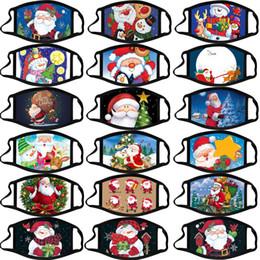 Toptan satış Noel yetişkin buğu önleyici yıkanabilir pamuk maskeleri renk Noel maske karikatür yüzü Parti Maskeler moda tasarım yüz maskeleri maske maske Calico