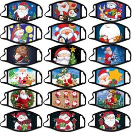 Christmas adult calico mask anti-fog washable cotton masks color Christmas mask cartoon face mask Party Masks fashion design facemasks on Sale