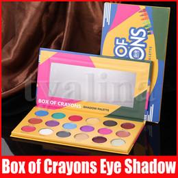 Eye Makeup Eye shadow Palette BOX OF CRAYONS Eyeshadow iShadow Palette 18 Colors Shimmer Matte Eyeshadow Palette on Sale