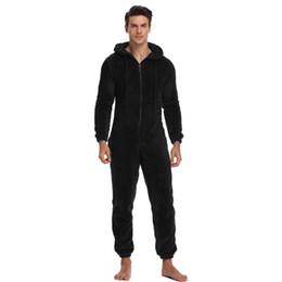 Wholesale men s onesie for sale – halloween Men Warm Teddy Fleece Onesie Fluffy Sleep Lounge Adult Sleepwear One Piece Pyjamas Male Jumpsuits Hooded Onesies For Adult Men