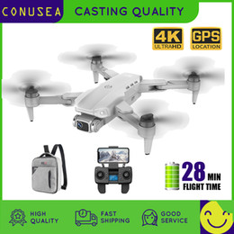 CONUSEA L900 GPS Drone 4K With Camera Anti-Shake Foldable Helicopter RC Quadcopter Dron Brushless Motor Professional drones on Sale