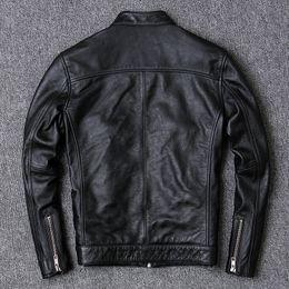 Wholesale leather sheepskin jacket for men for sale - Group buy Sheepskin Real Jacket Cowhide Coat Spring Fall Genuine Leather Jackets for Men Plus Size Vintage Kj5904
