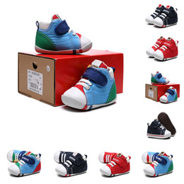 Discount babys shoes girl NewBorn Babys boy Shoes First Walkers SOFT trainer Infant New Born Shoes baybies touch-strap my first sneakers Todd