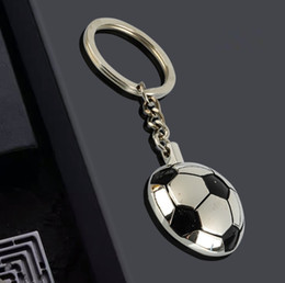 Discount metal footballs sublimation blank metal football sport key ring chain heart transfer printing diy custom keychains consumables material