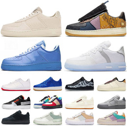 beyaz krikolar toptan satış-ayakkabı Force shadow off white mca moma af1 low travis scott cactus jack just do it airforce forces one type n354 react erkek bayan eğitmenler spor ayakkabı
