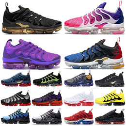 Wholesale lemon top resale online - Top TN Plus BIG SIZE Pink Metallic Gold men running shoes Coquettish Purple Hyper Violet Lemon Lime Women outdoor sport trainers sneakers