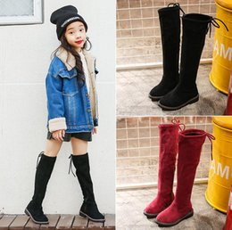 tutus for plus size Australia - Children Shoes New Winter Leather Warm Fashion High Child Soft Tube Plus Snow Boots For Girls Size 26-37