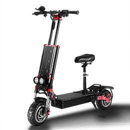 inch tires UK - Electric Scooter 5600W Dual Motor folding bike 60V Lithium Battery 11 inch Tire Max Speed 85km h Off-road Electric skateboard for Adult