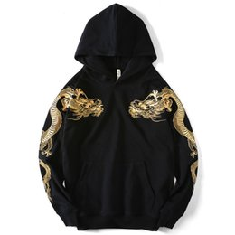 Wholesale xxxxl hoodies for sale - Group buy 2021 Spring New Men s Sweatshirt Harajuku Hip Hop Cross Double Dragon Embroidered Long Sleeve Hoodie m Xxxxl
