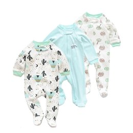 animal onesie baby clothes Canada - Baby cotton jumpsuit baby climbing suit long sleeve and foot onesie baby boy clothes toddler girl winter jumsuit bebe romper 1024