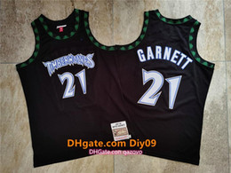 Wholesale jersey nba for sale - Group buy Men Minnesota Timberwolves Kevin Garnett Mitchell Ness Black Hardwoods Classics nba Authentic Jerseys