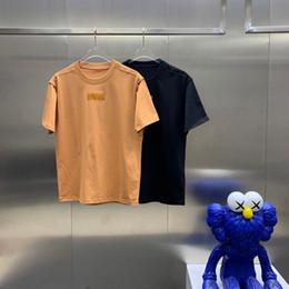 Ingrosso 2021 Primavera primavera T-shirt a maniche corte Donne Top Abbigliamento Uomo Top Abbigliamento Ins Net Red Explosion Lettera Stampa Trend Tornatura Shirt Tornaio Settano Mezza manica L9ep