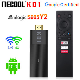 android smart box sticks 2021 - Global Mecool KD1 Smart TV Stick Amlogic S905Y2 TV Box Android 10 2GB 16GB Google Certified 1080P 4K 2.4G&5G Wifi BT TV Dongle