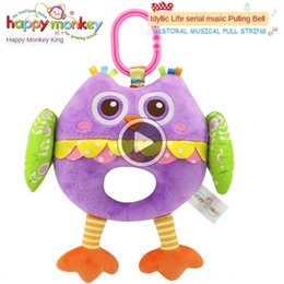 toys happy monkey Canada - SROM Happy Monkey plush toy music bed Happy Monkey Baby plush toy baby music Bell bed Bell