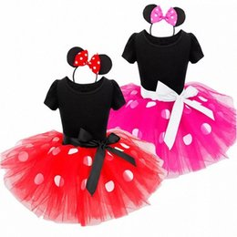 fancy dress costumes mouse Australia - Fancy Baby Girls Clothes Mouse Dress Christmas Costume New Year Carnival Polka Dot Santa Dresses For Girls Holiday Party o5ZY#