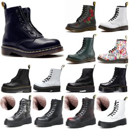 Wholesale Preferential saledrClassic 1460 boot ankle crystal sole martin fox mens women womens fur snow martins fox 8-hole boots doc 36-46 #