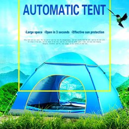 outdoor tent pink 2021 - Outdoor tent 3-4 people automatic double beach camping simple speed open multi-person rain camping tent1