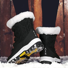 Wholesale Women Boots Non-slip Waterproof Winter Ankle Snow Boots Women Platform Winter Shoes with Thick Fur thigh high boots
