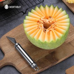Discount kitchen fruit vegetable carving Multifunctional Carving Tools Vegetable Melon Cutter Diy For Fruit Kitchen Knife Steel Stainless yxlgfk xhhair