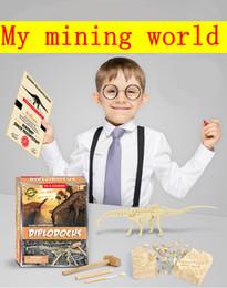 Wholesale New educational toy diy archaeological excavation dinosaur treasure gem toy children assembled dinosaur model boy birthday gift