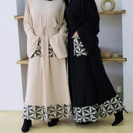 Wholesale dresses for hijab resale online - Islam Muslim Abayas for Women Arabic Hijab Dress Dubai Abaya Turkey Kaftan Caftan Marocain Turkish Clothing Vestidos Largos Robe