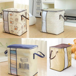 Vertical Plate Sack Bedroom Storage Bags Binaural Portable Thickening Non Woven Fabric Dustproof Bag Bedroom 4 6cm O2 on Sale