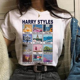 harry styles shirts UK - Vogue Harry Styles Love On Tour Graphic t shirt women Fine Line Top Watermelon sugar T shirt Sunflowers Tee TPWK Korean clothes