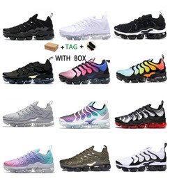fliege mann großhandel-2021 TN PLUS Run Utility Vamaxpors tn CPFM vapormax MOC Running plus Shoes fly knit air cushion vapormax Trainers Outdoors Sports Sneakers EUR Spirit