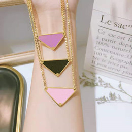 Wholesale Triangle necklace metal alloy necklace letter P necklace gift party wedding for women