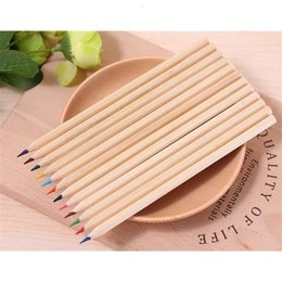 colour pencils set NZ - Colour wood hot Lead Color Pencils pencil Sets of 12 kids colored drawing children epacket