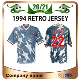 Wholesale america s cup online – design 1994 World Cup Away Soccer Jersey LALAS STEWART WEGERLE Soccer Shirt America national team BALBOA football uniform