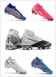 high top soccer cleats cr7 2020 - Mens SG FG Soccer Cleats Metal Studs Grey Checks Superfly 7 Elite Neymar High Top Soccer Shoes Ronaldo CR7 Mercurial Foo
