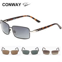 Wholesale 70s style for sale – custom Conway Retro Square Sunglasses for Men Women s Sun Glasses Angular Lightweight Metal Frame Slim Acetate Arms Italian Style