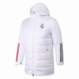 Wholesale real madrid clothes online – design 20 Real Madrid Cotton coat Isco Down Jacket mens hazard sweater hoodie tracksuits soccer Modric benzema football winter clothe wind suits