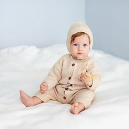 Wholesale knit sets for sale - Group buy 2019 Infant Baby Rompers Autumn Clothes Newborn Baby Boy Girl Knitted Sweater Jumpsuit Spring Kid Toddler Outerwear Set bbyDlZ homebag
