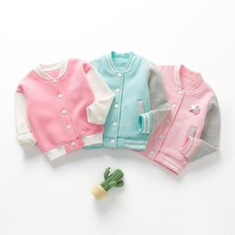 Wholesale corduroy coats for girls resale online – Children s Baseball Uniform Coats New Boys and Girls Fashion Casual Jackets Kids Coat Toddler Outwear Jacket for Years
