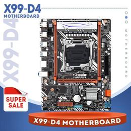 Tablet PC Anakartları Jingsha X99 D4 Anakart LGA2011 V3 / V4 M-ATX USB3.0 NVME M.2 WIFI SSD Destek DDR4 Bellek ve Xeon E5 V3 İşlemci1