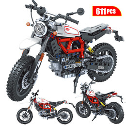 ingrosso moto kid-1 Creatore Technic Adventure Moto Motocicletta Auto MOC Modello Building Building Blocks City Racing Car Motorbike Vehicle Bricks Giocattoli per bambini Q0123