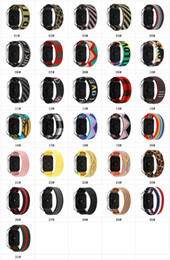 Wholesale Stretch Nylon Fabric Braided Strap Watch Band for apple Watch Series 1 2 3 4 5 38mm 42mm 40mm 44mm iwatch breathable Band