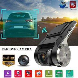 Real 1080p HD Car Câmera DVR Android Carro Carro Digital Video Recorder Camcorder Escondido Night Vision Dash Cam 170 ° Registrador de Ângulo largo em Promoção