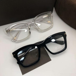 Wholesale NEW high-quality Square Pure-plank big-rim glasses frame with clear lens 50-20-145 unisex for prescription full-set case OEM