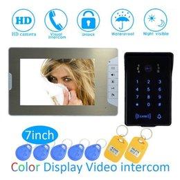 Video Dörr telefoner Smart Hem Intelligent 1 till Intercom Kit 7 tum LCD Monitor Wire Phone Doorbell System Säkerhetskamera för Vistor1
