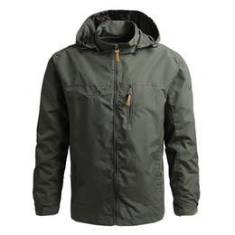 Wholesale mens green army style jackets resale online - Spring and Autumn Loose Style Top Mens Soft Shell Solid Color Jacket Outdoor Mountaineering Jacket Plus Size M XL