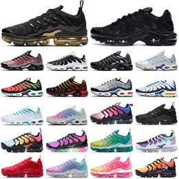 Wholesale tn plus mens Running Shoes men women Chaussures triple black white Be Ture Worldwide Camo Greedy tns mens trainer outdoor sports sneakers