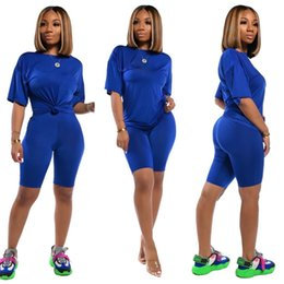 Wholesale womens plus short sleeve hoodie for sale - Group buy Hot Womens Designer Piece Set Tracksuit Short Sleeve Outfits Jogging Sports Suits Hoodie Short Leggings Sportswear Sweatshirt Shorts