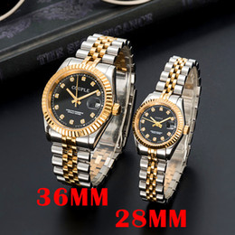 Wholesale oro gold resale online - Wristwatches Full Lusso Steel Automatic Gold Watch Sapphire Classic Couples Luminous Mens Women Waterproof Di Stainless Style Dress Oro Esit