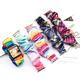 for Apple Watch Band Smart Straps Wristbands Polyester for iwatch 1 2 3 4 5 6 38 40 42 44mm 85 Colors on Sale